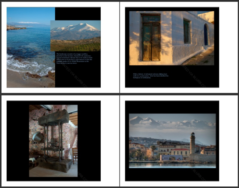 Crete photography book pages