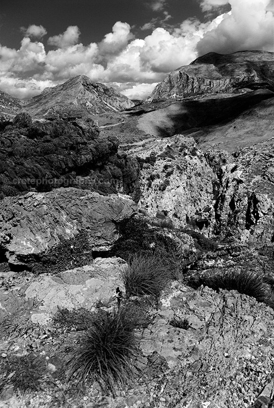 Preveli inland black and white